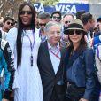 Naomi Campbell, Jean Todt et sa femme Michelle Yeoh - Grand Prix de Formule E à Monaco le 13 mai 2017. © Michael Alesi / Bestimage