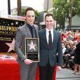 Jim Parsons, Todd Spiewak - Jim Parsons laisse ses empreintes dans le ciment hollywoodien au TCL Chinese Theater à Hollywood, le 10 mars 2015