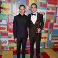 """Jim Parsons et son fiancé Todd Spiewak lors de la """"HBO Emmy After party"""" à Los Angeles, le 25 août 2014."""