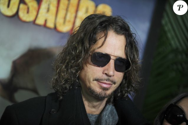 Chris Cornell en famille à la projection du film 'Walking With Dinosaurs' à New York le 15 décembre 2013.
