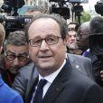 Francois Hollande au QG du parti socialiste rue de Solférino à Paris après la passation de pouvoir le 14 mai 2017. © Marc Ausset-Lacroix / Bestimage