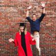 Mike Horn et Jessica. Cette dernière a été dîplomée de l'université de Boston. Mai 2017.
