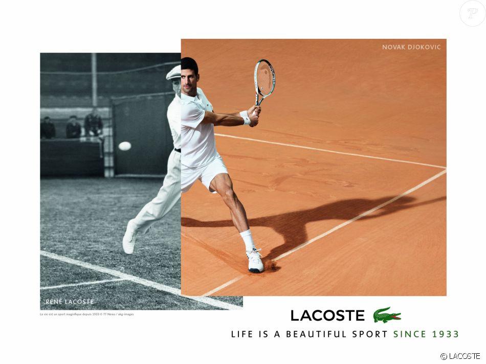 Lacoste Garros Ambassadeur Novak Roland Purepeople Pour Djokovic H9EYWD2I