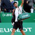 Novak Djokovic a perdu face à David Goffin lors du Monte Carlo Rolex Masters à Roquebrune Cap Martin le 21 avril 2017. © Bruno Bebert / Bestimage