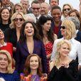 Catherine Deneuve (Présidente en 1994), Pedro Almadovar (Président en 2017), Isabelle Huppert (Présidente en 2009), Nicole Kidman (Jury 2013), Vincent Lindon (Prix d'interprétation 2015) Bérénice Bejo (Prix d'interprétation 2013), Juliette Binoche (Prix d'interprétation 2010), Uma Thurman (Présidente du jury Un Certain Regard en 2017), Mathieu Kassovitz, Charlize Theron, Maïwenn, Jessica Chastain, Will Smith, Adrien Brody et Marion Cotillard au photocall anniversaire du 70e Festival International du Film de Cannes, France, le 23 mai 2017. © Borde-Jacovides-Moreau/Bestimage