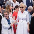 Ferid Boughedir,, Uma Thurman, au photocall anniversaire du 70e Festival International du Film de Cannes, France, le 23 mai 2017. © Borde-Jacovides-Moreau/Bestimage