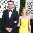 Naomi Watts et son compagnon Liev Schreiber - La 72ème cérémonie annuelle des Golden Globe Awards à Beverly Hills, le 11 janvier 2015.