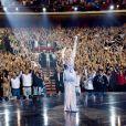 La chanteuse Céline Dion a rendu hommage aux victimes de l'attentat de Manchester, depuis Las Vegas, le 23 mai 2017