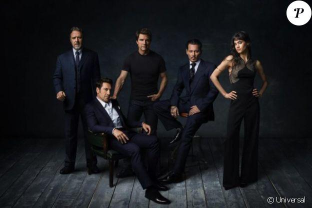 Le Dark Universe avec Johnny Depp, Javier Bardem, Russell Crowe, Tom Cruise et Sofia Boutella.