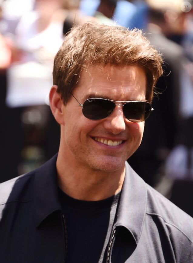 """Tom Cruise - Universal Pictures dévoile un sarcophage de presque 23 mètres de hauteur lors du """"Mummy Day"""", en l'honneur du film """"The Mummy"""" à Hollywood, le 20 mai 2017. © CPA/Bestimage"""