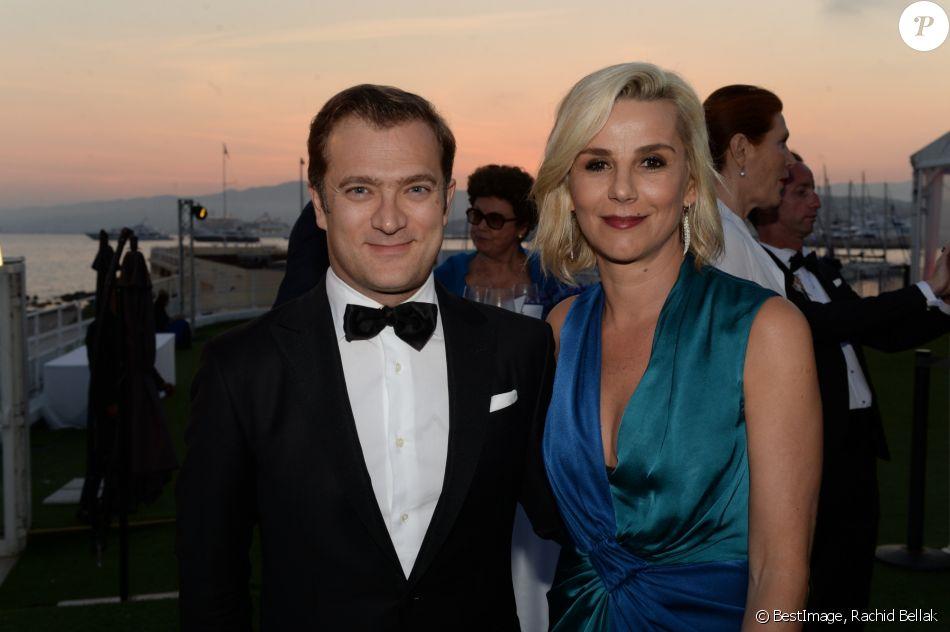 Semi-exclusif - Laurence Ferrari et son mari Renaud Capuçon - Soirée de la fondation Positive Planet au Palm Beach lors du 70ème festival de Cannes le 24 mai 2017. © Rachid Bellak/Bestimage