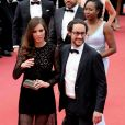 """Thomas Hollande et sa compagne Emilie Broussouloux - Montée des marches du film """"L'Amant Double"""" lors du 70ème Festival International du Film de Cannes. Le 26 mai 2017. © Borde-Jacovides-Moreau / Bestimage"""