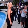 """Pamela Anderson durant la soirée """"Amber Lounge Monaco 2017"""" au Méridien Beach Plaza, dans le cadre du Grand Prix de Monaco. Cette année, les profits de la vente aux enchères seront reversés à la fondation de Sir Jackie Stewart, """"Race Against Dementia"""". Monaco, le 26 mai 2017. © Bruno Bebert/Bestimage"""