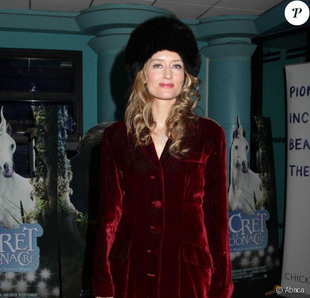 Natascha McElhone à la Première de Le secret de Moonacre, hier à Londres