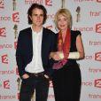 Fanny Cottençon et son fils Maxime Coggio - 29ème cérémonie des Molières 2017 aux Folies Bergère à Paris le 29 mai 2017. © Coadic Guirec/Bestimage