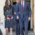"""Le prince William, duc de Cambridge, Catherine (Kate) Middleton, duchesse de Cambridge et le prince Harry ont assisté à une réunion de travail du marathon """"Virgin Money"""" à Londres, Royaume Uni, le 17 janvier 2017."""