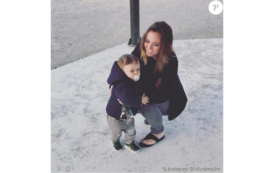 Kelly Helard présente son fils Lyam, le 12 avril sur Instagram.