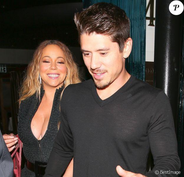 Mariah Carey et son compagnon Bryan Tanaka ont dîné au restaurant Mastro's Steakhouse à Beverly Hills le 2 juin 2017.