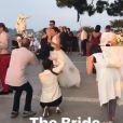 Cristina Cordula, heureuse à Capri (Italie) pour son mariage avec Frédéric, le 6 juin 2017.