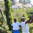 """Sony Anderson Olivier Dacourt - Compétition """"Old Course"""" lors du Mapauto Golf Cup à Saint-Raphaël-Valescure. Le 10 juin 2017"""