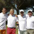 """Andrea Le Moal, Alain Carbonel, Patrice Teisseire, Jean Christophe Repon - Compétition """"Old Course"""" lors du Mapauto Golf Cup à Saint-Raphaël-Valescure. Le 10 juin 2017"""