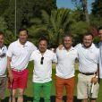 """Albert Emon, Frédéric Déhu, Harold et Jordan Bakalian, Jean Charles Orioli, Clément Grenier - Compétition """"Old Course"""" lors du Mapauto Golf Cup à Saint-Raphaël-Valescure. Le 10 juin 2017"""
