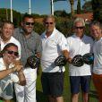 """Harold Bakalian, Michel Le Moal, Christophe Coutal, Franck Scigala, Jean Etienne Matton, Jordan Bakalian - Compétition """"Old Course"""" lors du Mapauto Golf Cup à Saint-Raphaël-Valescure. Le 10 juin 2017"""