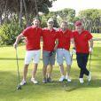 """Olivier Hermange, Pierrick Bourgeat, Fabrice Deville, Frédéric Berron - Compétition """"Old Course"""" lors du Mapauto Golf Cup à Cannes Mandelieu. Le 9 juin 2017"""