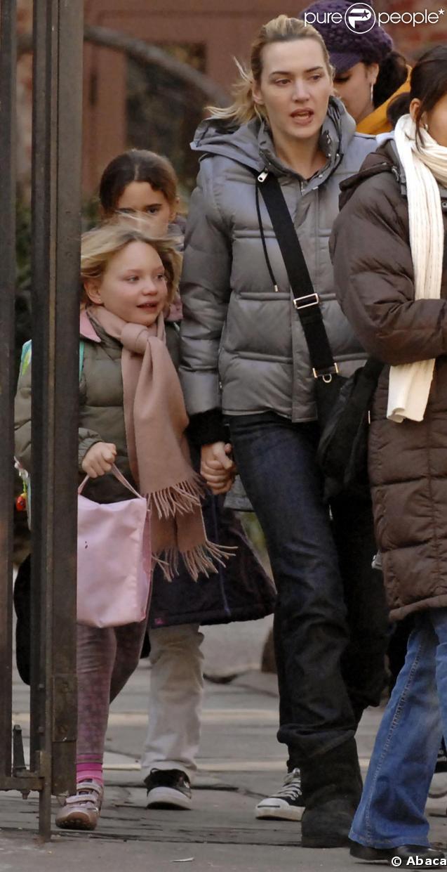 Kate Winslet et sa fille bravent le froid ensemble !