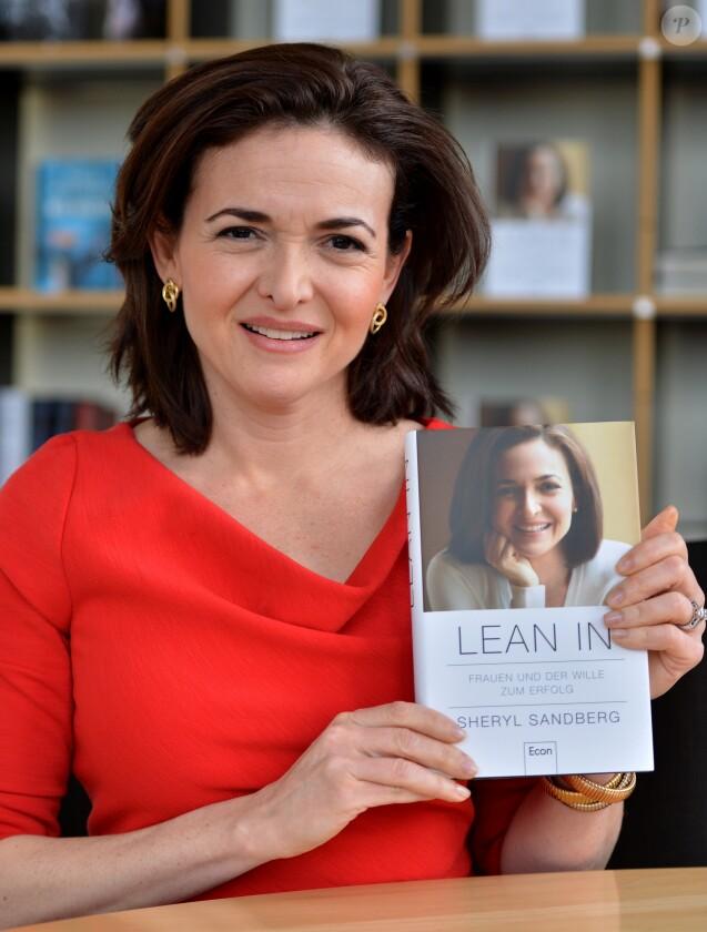 """Sheryl Sandberg lors de la promotion de son livre """"Lean in"""", à Berlin le 19 avril 2013."""