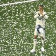 Cristiano Ronaldo - L'équipe du Real Madrid célèbre sa victoire au stade Santiago Bernabeu à Madrid après avoir remporté la finale de la ligue des champions à Madrid le 4 juin 2017