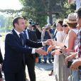 Le président de la République française Emmanuel Macron va voter à la mairie du Touquet pour le second tour des législatives, au Touquet le 18 juin 2017. Il devait ensuite se rendre à Suresnes pour la commémoration du 18 juin 1940. © Dominique Jacovides/Bestimage
