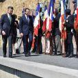 Emmanuel Macron participe à la cérémonie de commémoration de l'Appel du 18 juin du Général de Gaulle au Mont Valérien le 18 juin 2017. © Christian Liewig / Pool / Bestimage