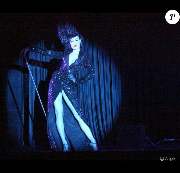 Dita Von Teese répète son show au Crazy Horse, le 28/01/09