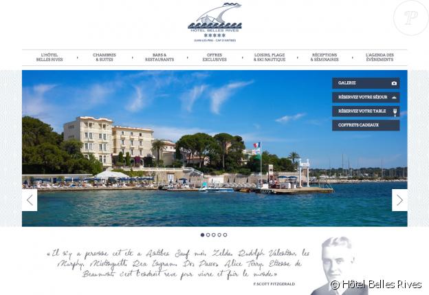 Vue de l'Hôtel Belles Rives, cinq étoiles mythique du Cap d'Antibes. © Site officiel de l'établissement.