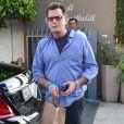 Charlie Sheen est allé déjeuner au restaurant Giorgio Baldi à Santa Monica, le 1er juin 2017.