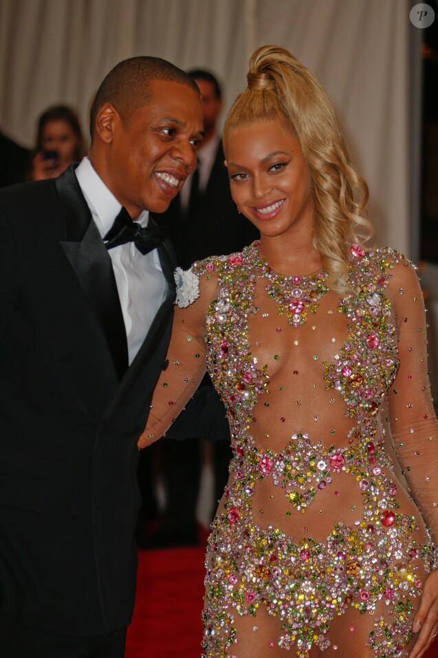 Jay-Z et sa femme Beyonce Knowles - Soirée Costume Institute Gala 2015 (Met Ball) au Metropolitan Museum, célébrant l'ouverture de Chine: à travers le miroir à New York. Le 4 mai 2015.