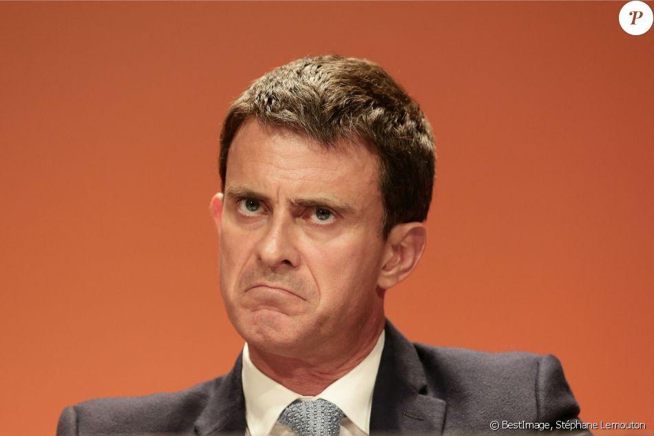 Manuel Valls - Forum républicain contre l'abstention au deuxième tour à l'éléction présidentielle française à la Maison de la Chimie à Paris, France, le 5 mai 2017. © Stéphane Lemouton/Bestimage