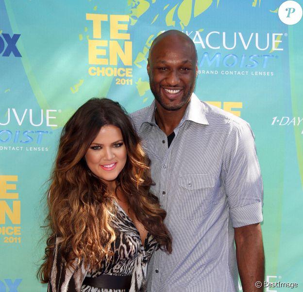 Khloe Kardashian et Lamar Odom à la cérémonie des Teen Choice Awards, à Universal City, le 7 aout 2011