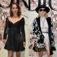Natalie Portman et Jennifer Lawrence assistent au défilé Christian Dior (collection Haute Couture, automne-hiver 2017-2018) à l'Hôtel des Invalides. Paris, le 3 juillet 2017.