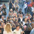 """Céline Dion - Célébrités au front row du défilé de mode Haute-Couture """"Giambattista Valli"""" collection Automne-Hiver 2017/2018 au Petit Palais à Paris, France, le 3 juillet 2017. © CVS-Veeren/Bestimage"""