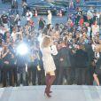 """Céline Dion au défilé de mode Haute-Couture """"Giambattista Valli"""" collection Automne-Hiver 2017/2018 au Petit Palais à Paris, France, le 3 juillet 2017. © CVS-Veeren/Bestimage"""