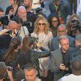 """Céline Dion arrive au défilé de mode Haute-Couture """"Giambattista Valli"""" collection Automne-Hiver 2017/2018 au Petit Palais à Paris, France, le 3 juillet 2017. © CVS-Veeren/Bestimage"""