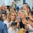 Semi Exclusif - Céline Dion arrive à l'hôtel Royal Monceau après le défilé Giambattista Valli le 3 juillet 2017.