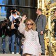 Après un shooting photo place Vendôme, Celine Dion se rend au défilé Giambattista Valli à Paris le 3 juillet 2017