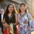 Rossy de Palma et sa fille Luna Garcia - Arrivée au vernissage de l'exposition ''Christian Dior, couturier du rêve'' pour les 70 ans de la maison Christian Dior au Musée des Arts Décoratifs à Paris, le 3 juillet 2017.