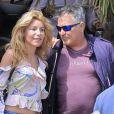 Exclusif - L'humoriste Jean-Marie Bigard et sa femme Lola vont fêter les 63 ans de Jean-Marie en amoureux au restaurant le Chalet des îles le 17 mai 2017.