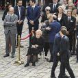 Bernadette Chirac et sa fille Claude Chirac, Bernard Cazeneuve - Hommage national à Simone Veil (femme politique et rescapée de la Shoah) dans la cour d'Honneur des Invalides à Paris, France, le 5 juillet 2017. Simone Veil reposera avec son mari au Panthéon. © Pierre Perusseau/Bestimage