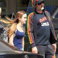 David Arquette et sa fille Coco font du shopping à Beverly Hills. Los Angeles, le 24 mars 2017.