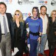 """David Arquette, Rosanna Arquette, Alexis Arquette, Richmond Arquette et Patricia Arquette lors de l'ouverture du festival du film indien 2014 avec la projection du film """"Sold"""" aux ArcLight Cinemas à Hollywood, le 8 avril 2014."""